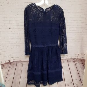 City Triangles Long Sleeve Lace dress # 418